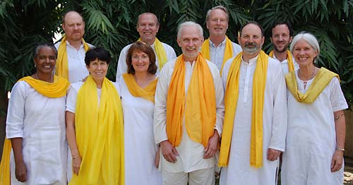 Ananda Kriyacharyas in India, March 2007 Back row, left to right: Dharmadas Schuppe, Jaya Helin, Anand Stickney, Dave Warner Front row, left to right: Dhyana Lynne, Shivani Lucki, Devi Novak, Jyotish Novak, Bharat Cornell, Kirtani Stickney